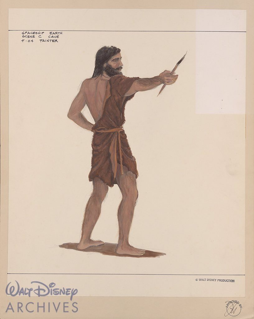 Cave Man Costume sketches from Walt Disney Archives