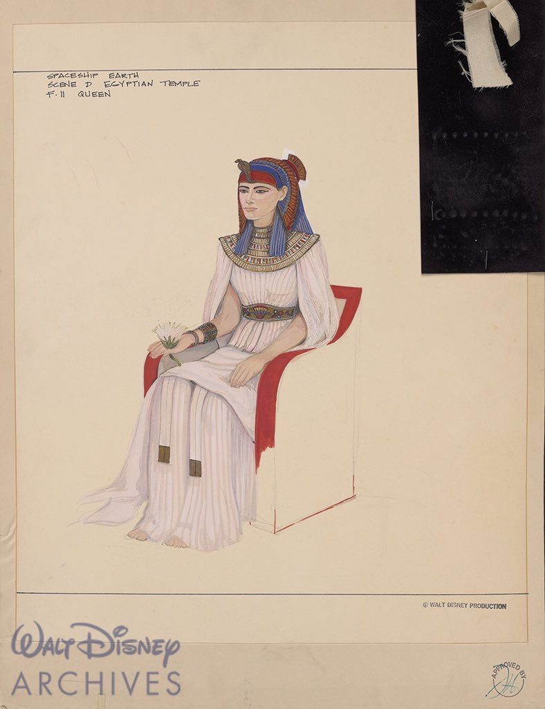 Egyptian Costume sketch from Walt Disney Archives
