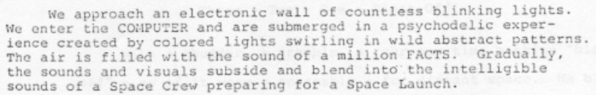 Excerpt from Bradbury talking about countless blinking lights